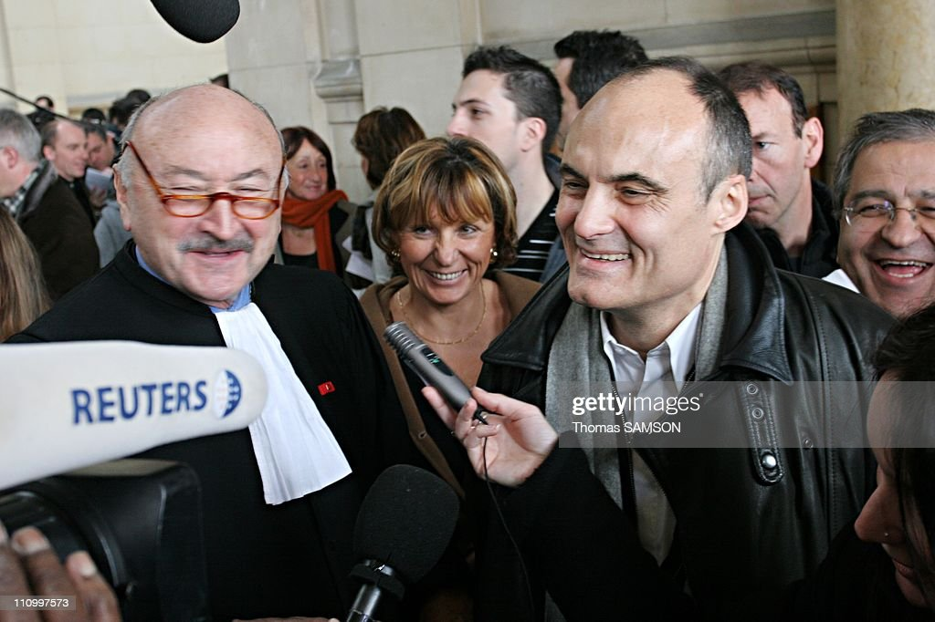 Philippe Val, chief editor of 'Charlie Hebdo' and laywer Richard Malka was French court ruled in favour of the satirical weekly 'Charlie Hebdo' that had printed cartoons of the Prophet Mohammad in Paris, France on March 22nd, 2007.