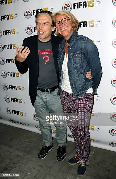 Philippe Vandel and Ariane Massenet attend the new video game 'Fifa 15' party held at l'Opera restaurant on September 22 2014 in Paris France