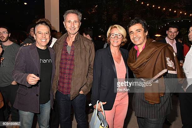 Philippe Vandel Thierry Lhermitte Ariane MassenetÊand Ariel Wizman attend the Acer 40th Anniversary at Musee Des Arts Forains on September 20 2016 in...