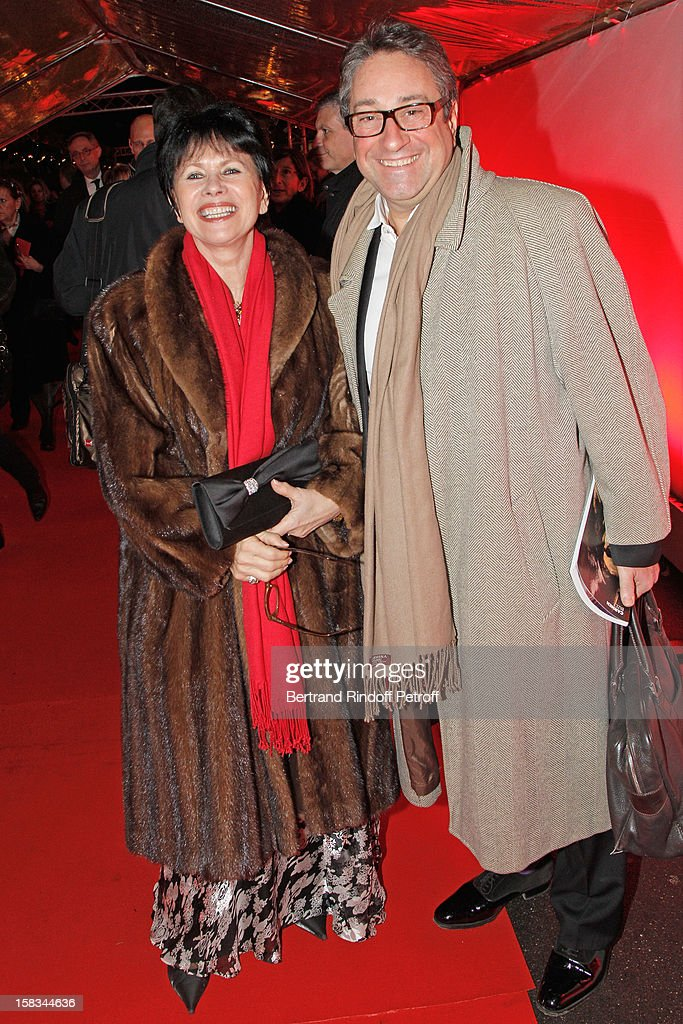 Philippe-Henri Dutheil, Chairman of the Hauts de Seine Bar, Member of Board, Partner Ernst & Young - France, and his wife Herveline arrive at the Arop Gala event for Carmen new production launch at Opera Bastille on December 13, 2012 in Paris, France.