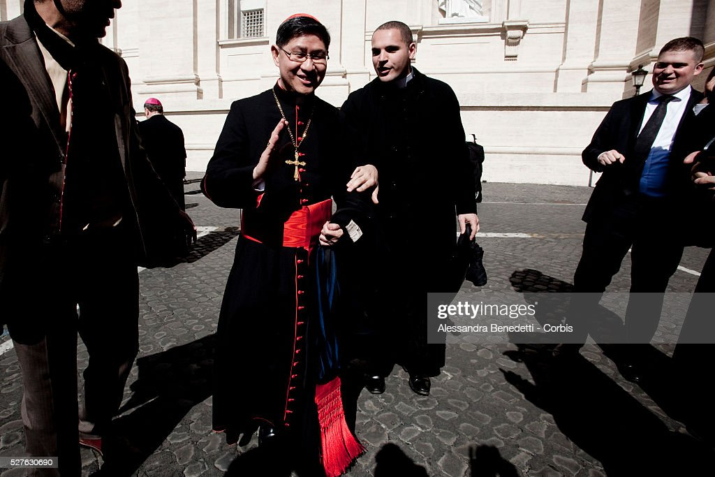 Philippine Cardinal Luis Tagle of Manilaattend Pope Benedict XVI's final General Audience at the Vatican before his resignation