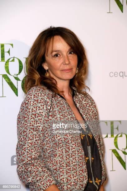 Philippine LeroyBeaulieu attends the 'Ce Qui Nous Lie' Paris Premiere at Cinema UGC Normandie on June 12 2017 in Paris France