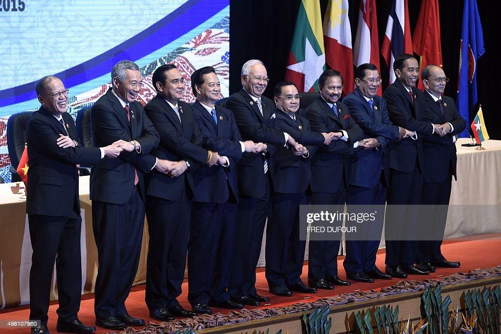Philippine President Benigno Aquino Singapore Prime Minister Lee Hsien Loong Thailand's Prime Minister Prayut ChanOCha Vietnam's Prime Minister...