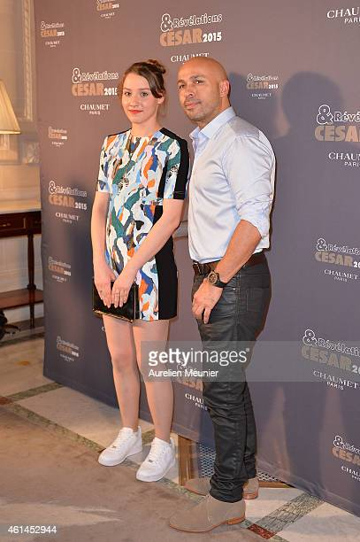 Philippine Stindel and Eric Judor attend the 'Cesar Revelations 2015' Dinner at Hotel Le Meurice on January 12 2015 in Paris France