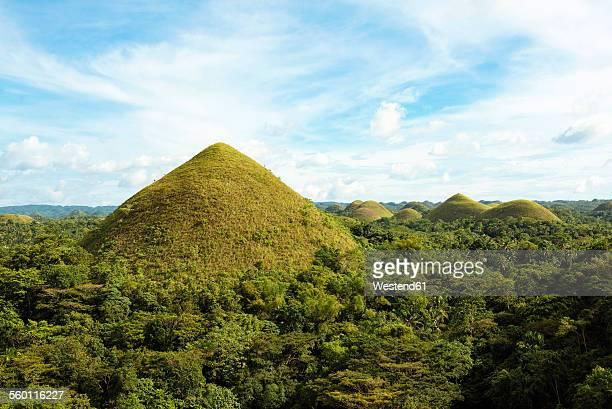Philippines, Bohol, view to Chocolate Hills