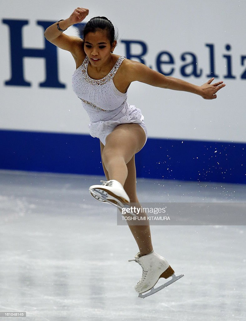 Philippines' Melissa Bulanhagui performs her short program in the ladies event during the Four Continents figure skating championships in Osaka on February 9, 2013.