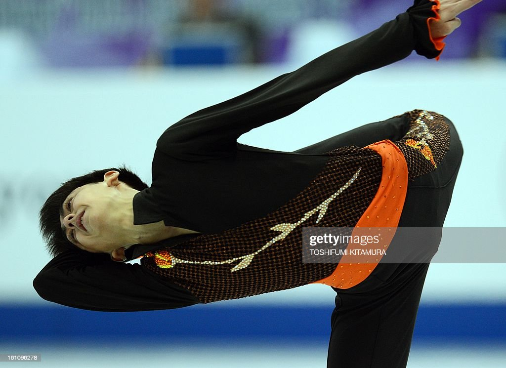 Philippines' Michael Christian Martinez performs his free skating in the men's event during the Four Continents figure skating championships in Osaka on February 9, 2013. AFP PHOTO / TOSHIFUMI KITAMURA