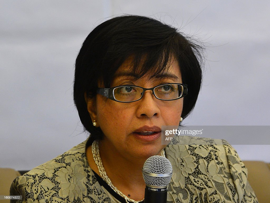 Philippines political science professor Miriam Coronel Ferrer, chairperson of the government negotiating panel for peace talks with the Moro Islamic Liberation Front (MILF), speaks during a news conference at the Philippines Embassy in Kuala Lumpur on January 26, 2013. Philippine President Benigno Aquino and MILF chief Murad Ebrahim witnessed the signing of a framework agreement on October 15, 2012 which aims for a full peace deal by 2016, including significant power and wealth-sharing with the MILF in a new autonomous region in the strife-torn southern Philippines. Muslim rebel groups have been fighting since the 1970s for full independence or autonomy in the south in a conflict that has claimed 150,000 lives.