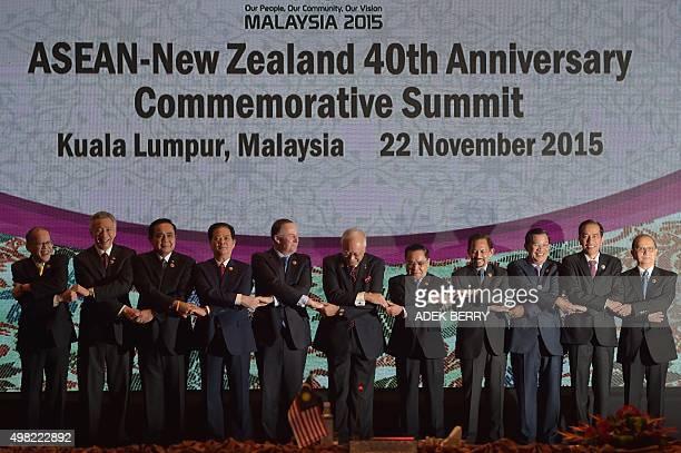 Philippines President Benigno Aquino Singapore Prime Minister Lee Hsien Loong Thailand's Prime Minister Chayut ChanOCha Vietnam's Prime Minister...