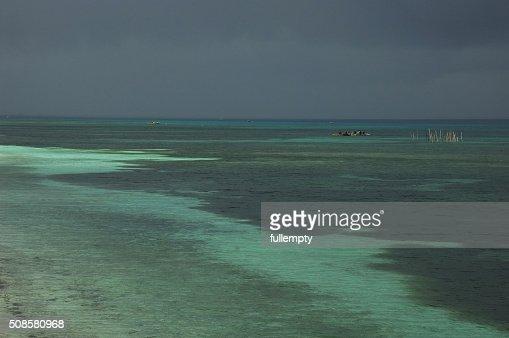 フィリピン海と フィッシャー の男性 moonson ストーム : ストックフォト