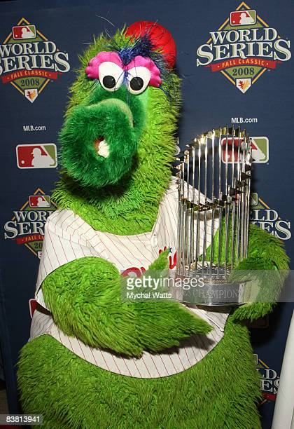 Phillies Mascot The Phanatic attends the premiere of '2008 World Series Film Phillies vs Rays' at the Bridge Cinema De Lux on November 24 2008 in...