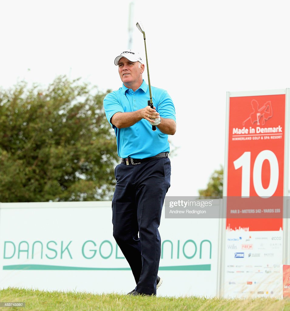 Phillip Archer of England hits his tee-shot on the tenth hole during the final round of Made In Denmark at Himmerland Golf & Spa Resort on August 17, 2014 in Aalborg, Denmark.