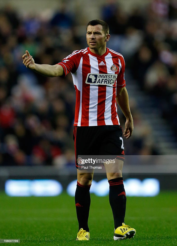Phillip Bardsley of Sunderland in action during the Barclays Premier League match between Sunderland and Chelsea at the Stadium of Light on December 8, 2012, in Sunderland, England.