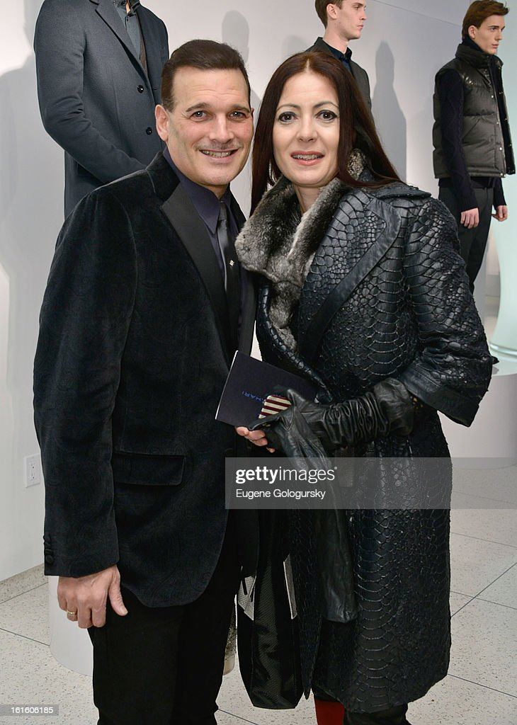 <a gi-track='captionPersonalityLinkClicked' href=/galleries/search?phrase=Phillip+Bloch&family=editorial&specificpeople=204171 ng-click='$event.stopPropagation()'>Phillip Bloch</a> and Catherine Malandrino attend Elie Tahari during Fall 2013 Mercedes-Benz Fashion Week on February 12, 2013 in New York City.