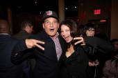 Phillip Bloch and Fran Drescher attend as Fran Drescher and DuJour Magazine present Cancer Shmancer Movement at SEN NYC on November 6 2013 in New...