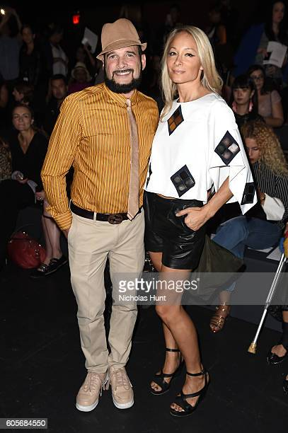 Phillip Bloch and Indira Cesarine attend the Naeem Khan fashion show during New York Fashion Week The Shows at The Arc Skylight at Moynihan Station...
