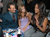 Phillip Bloch Carmen Electra and Vivica A Fox during Olympus Fashion Week Fall 2005 Betsey Johnson Front Row and Backstage at The Plaza Bryant Park...