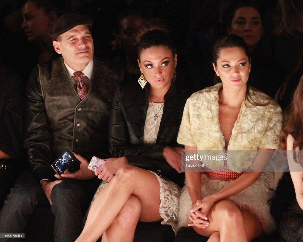 Phillip Bloch, Sammi Giancola, and Paula Garces attend the Project Runway Fall 2013 Mercedes-Benz Fashion Show at The Theater at Lincoln Center on February 8, 2013 in New York City.