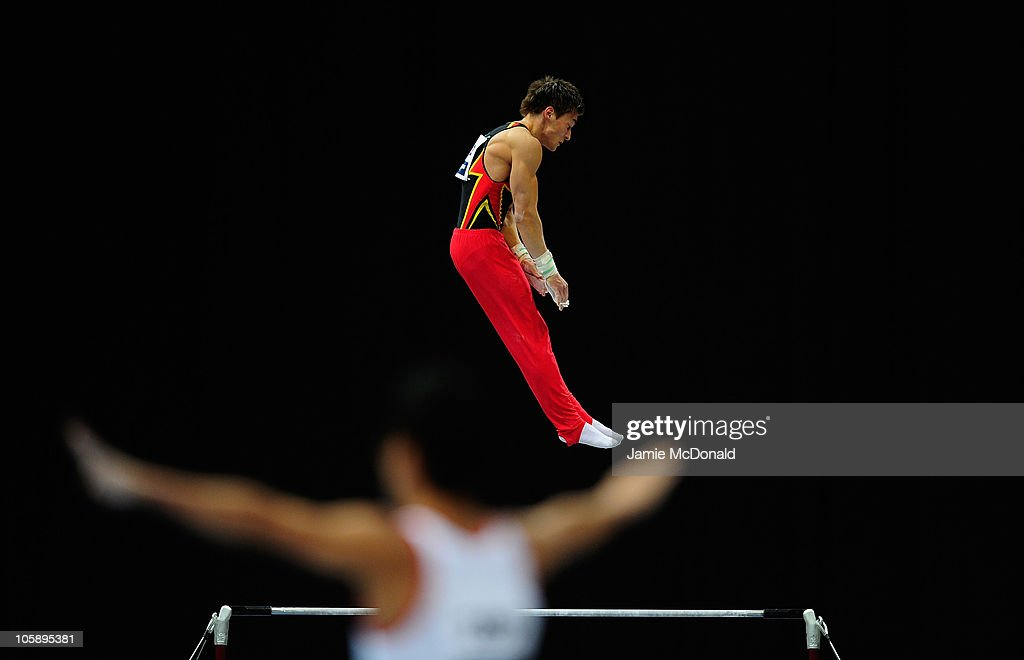 Phillip Boy Of Germany Competes On The High Bar During Mens Team Final At