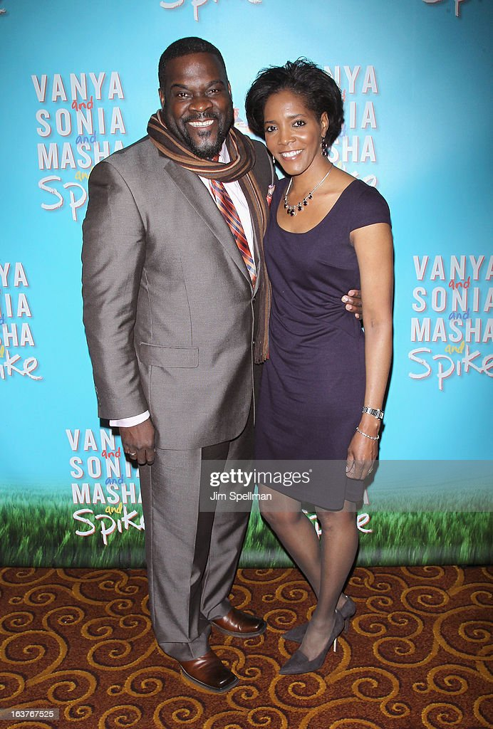 Phillip Boykin and wife Felicia Richardson Boykin attends the after party for 'Vanya And Sonia And Masha And Spike' Broadway opening night at Gotham Hall on March 14, 2013 in New York City.