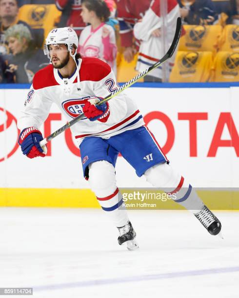 Phillip Danault of the Montreal Canadiens before the game against the Buffalo Sabres at the KeyBank Center on October 5 2017 in Buffalo New York
