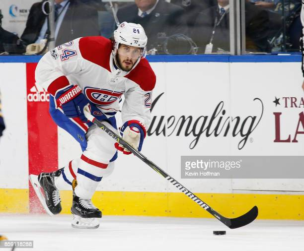 Phillip Danault of the Montreal Canadiens during the game against the Buffalo Sabres at the KeyBank Center on October 5 2017 in Buffalo New York