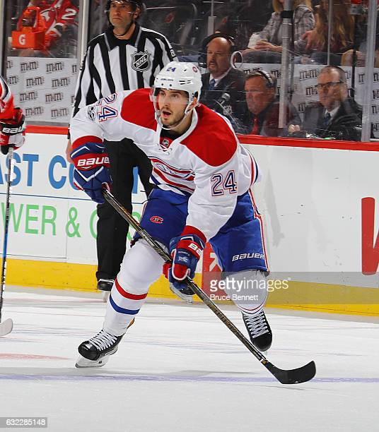 Phillip Danault of the Montreal Canadiens skates against the New Jersey Devils at the Prudential Center on January 20 2017 in Newark New Jersey The...