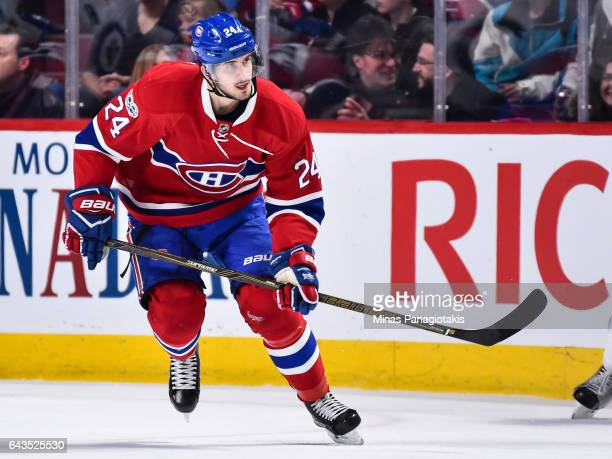 Phillip Danault of the Montreal Canadiens skates during the NHL game against the Winnipeg Jets at the Bell Centre on February 18 2017 in Montreal...