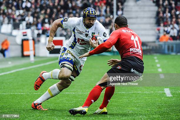 phillip Flip VAN DER MERWE of Clermont during the French Top 14 rugby union match between RC Toulon v Clermont Auvergne at on April 3 2016 in...