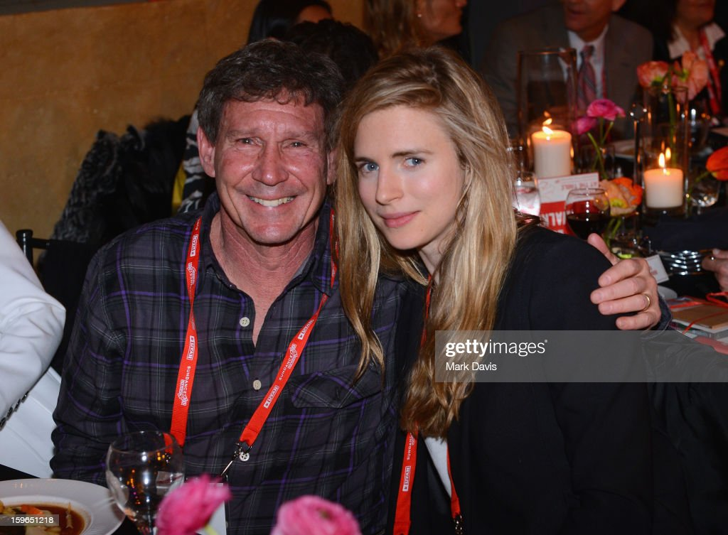 Phillip Friedman and actress <a gi-track='captionPersonalityLinkClicked' href=/galleries/search?phrase=Brit+Marling&family=editorial&specificpeople=701867 ng-click='$event.stopPropagation()'>Brit Marling</a> attend An Artist At The Table, a benefit for the Sundance Institute during the 2013 Sundance Film Festival at The Shop on January 17, 2013 in Park City, Utah.