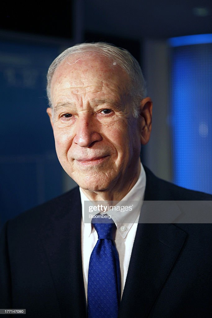 Phillip Frost, billionaire and chairman of Teva Pharmaceutical Industries Ltd., poses for a photograph at the Tel Aviv Stock Exchange in Tel Aviv, Israel, on Wednesday, Aug. 21, 2013. Frost was at the Tel Aviv Stock Exchange to mark the listing of Opko Health Inc., of which he is the largest shareholder. Photographer: Ariel Jerozolimski/Bloomberg via Getty Images