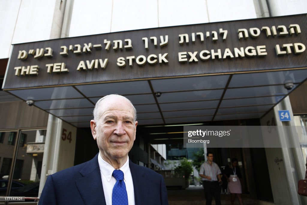 Phillip Frost, billionaire and chairman of Teva Pharmaceutical Industries Ltd., poses for a photograph outside the Tel Aviv Stock Exchange in Tel Aviv, Israel, on Wednesday, Aug. 21, 2013. Frost was at the Tel Aviv Stock Exchange to mark the listing of Opko Health Inc., of which he is the largest shareholder. Photographer: Ariel Jerozolimski/Bloomberg via Getty Images