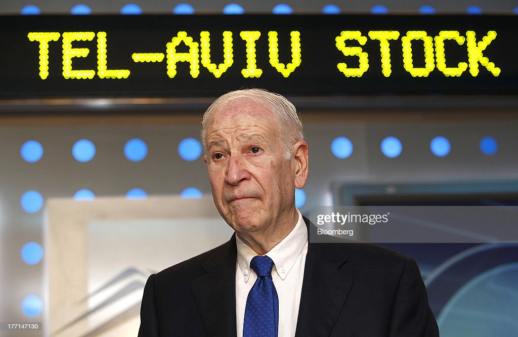 Phillip Frost, billionaire and chairman of Teva Pharmaceutical Industries Ltd., pauses at the Tel Aviv Stock Exchange in Tel Aviv, Israel, on Wednesday, Aug. 21, 2013. Frost was at the Tel Aviv Stock Exchange to mark the listing of Opko Health Inc. of which he is the largest shareholder. Photographer: Ariel Jerozolimski/Bloomberg via Getty Images