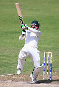 Phillip Hughes of Australia bats during day four of the tour match between Australia and Pakistan A at Sharjah Cricket Stadium on October 18 2014 in...