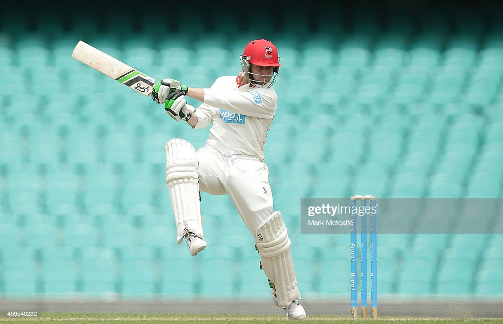 Phillip Hughes of South Australia bats during day one of the Sheffield Shield match between New South Wales and South Australia at Sydney Cricket Ground on November 25, 2014 in Sydney, Australia.