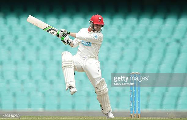 Phillip Hughes of South Australia bats during day one of the Sheffield Shield match between New South Wales and South Australia at Sydney Cricket...