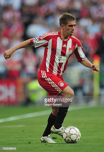 Phillip Lahm of Bayern Munich in action during the UEFA Champions League Final match between FC Bayern Muenchen and Inter Milan at the Estadio...