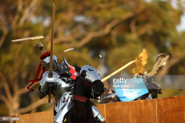 Phillip Leitch of Australia competes in the World Jousting Championships on September 24 2017 in Sydney Australia The World Jousting Championships...