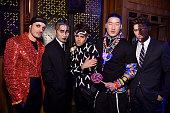 Phillip Lim Joe Jonas Richard Chai and Nolan Funk attend Moto X presents Heidi Klum's 15th Annual Halloween Party sponsored by SVEDKA Vodka at TAO...