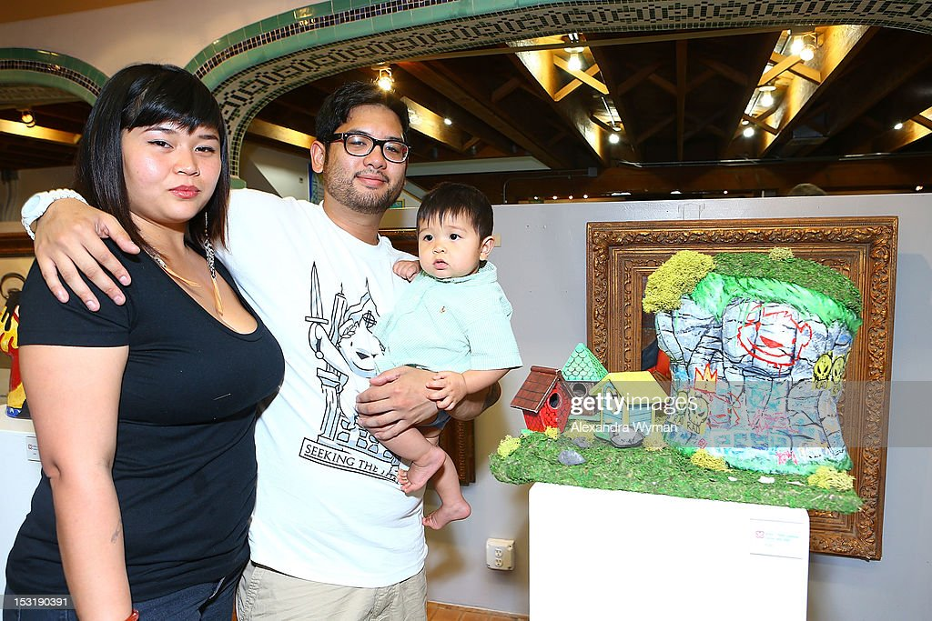 Phillip Lumbang and family at 'American Rag And Lab ART Present 'Keep Breast,'' an Americana themed art exhibition for Breast Cancer Prevention Month at LAB ART on September 29, 2012 in Los Angeles, California.