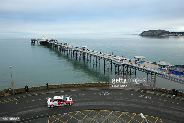 Phillip Morrow and Jonny Hartt of Great Britain in action during the Great Orme stage of the FIA World Rally Championship Great Britain on November...