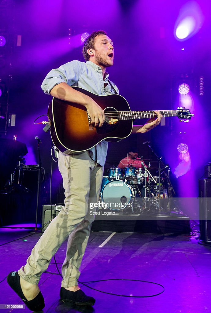 Phillip Phillips performs at Freedom Hill Amphitheater on June 22, 2014 in Sterling Heights, Michigan.