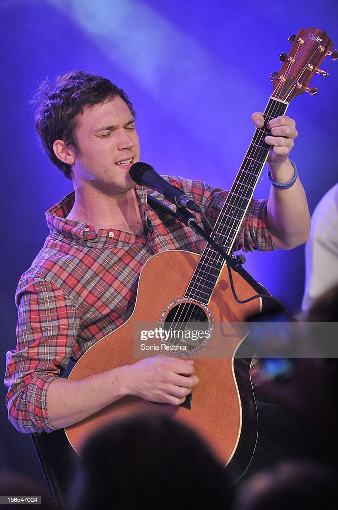 Phillip Phillips performs on NEW.MUSIC.LIVE. at MuchMusic Headquarters on December 18, 2012 in Toronto, Canada.