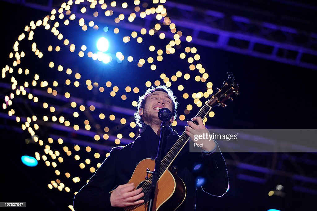 Phillip Phillips, winner of American Idol Season 11 performs a the concert during the 90th National Christmas Tree Lighting Ceremony on the Ellipse behind the White House on December 6, 2012 in Washington, DC. This year is the 90th annual National Christmas Tree Lighting Ceremony.