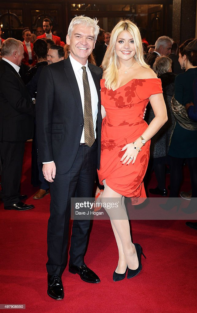 Phillip Schofield and Holly Willoughby attend the ITV Gala at London Palladium on November 19 2015 in London England