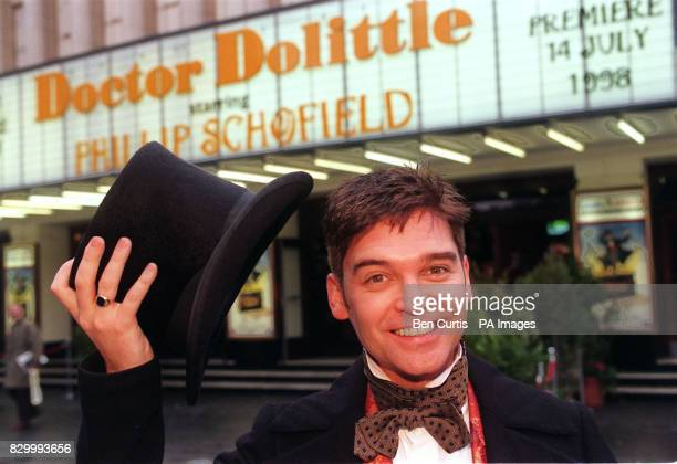 Phillip Schofield in his Dr Dolittle guise outside the Labatt's Apollo Theatre in Hammersmith west London today where he will be 'talking to the...