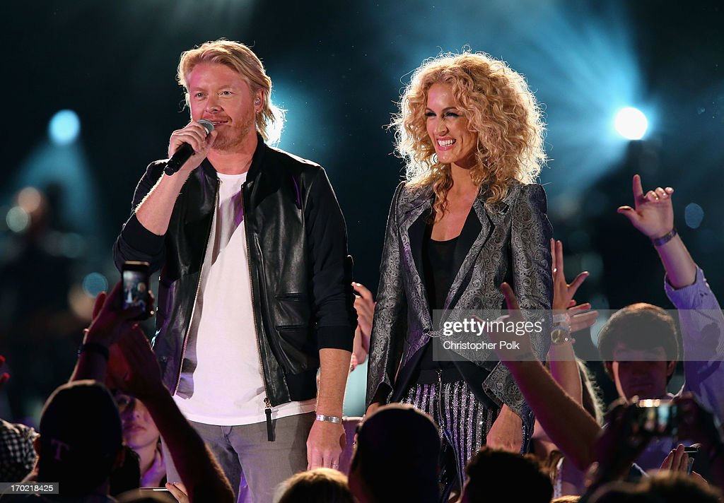 Phillip Sweet and Kimberly Schlapman present at the 2013 CMA Music Festival on June 8, 2013 at LP Field in Nashville, Tennessee.