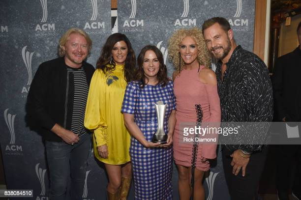Phillip Sweet Karen Fairchild honoree Lori McKenna Kimberly Schlapman and Jimi Westbrook attend the 11th Annual ACM Honors at the Ryman Auditorium on...