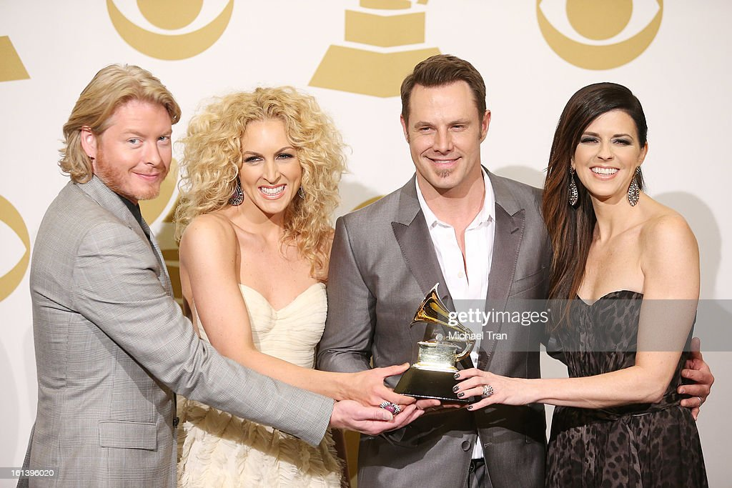 Phillip Sweet, Kimberly Schlapman, Jimi Westbrook and Karen Fairchild of Little Big Town attend the 55th Annual GRAMMY Awards at STAPLES Center on February 10, 2013 in Los Angeles, California