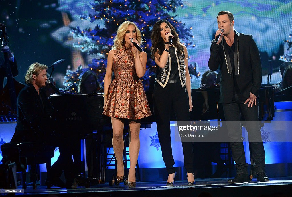 Phillip Sweet, Kimberly Schlapman, Karen Fairchild and Jimi Westbrook of Little Big Town perform during the 2012 Country Christmas concert on November 3, 2012 at the Bridgestone Arena in Nashville, Tennessee. The special airs Thursday, December 20 from 9:00-11:00 p.m., ET on the ABC Television Network.